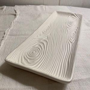 Partylite White Wood Decor Tray